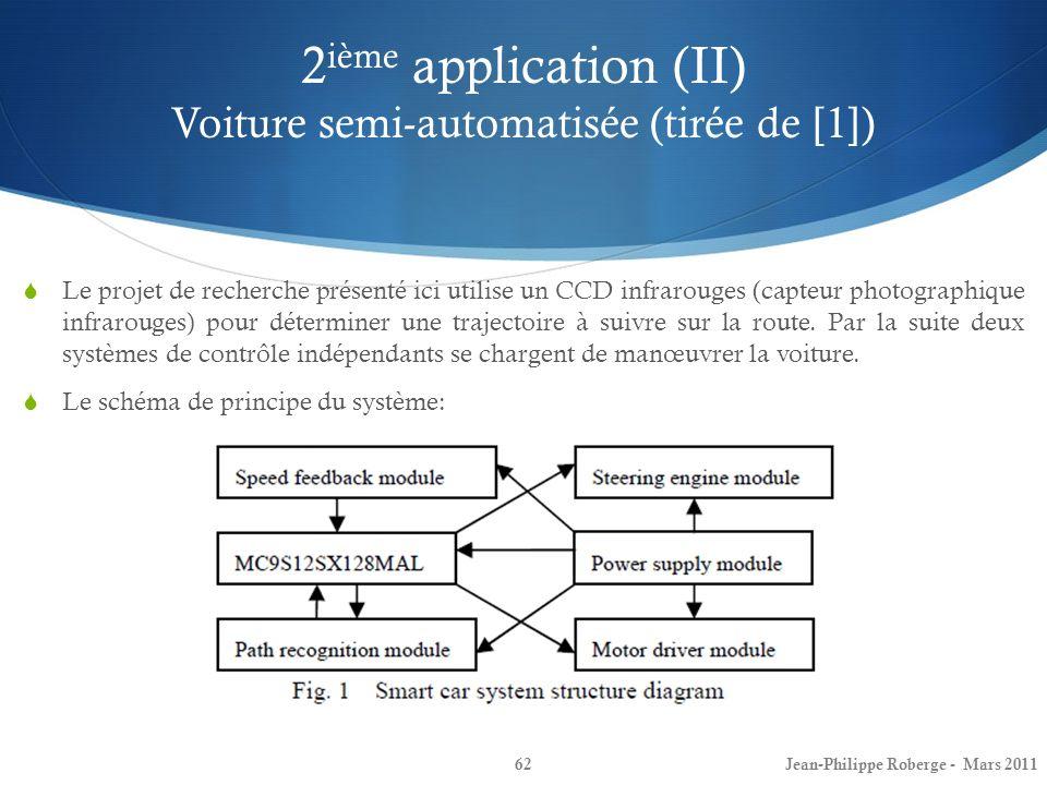 2ième application (II) Voiture semi-automatisée (tirée de [1])